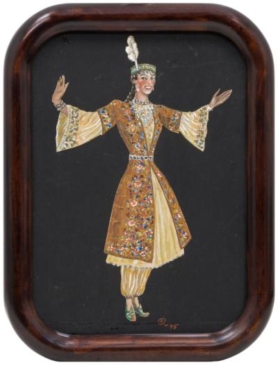 Эскиз костюма «Узбекистан» для Мосэстрады