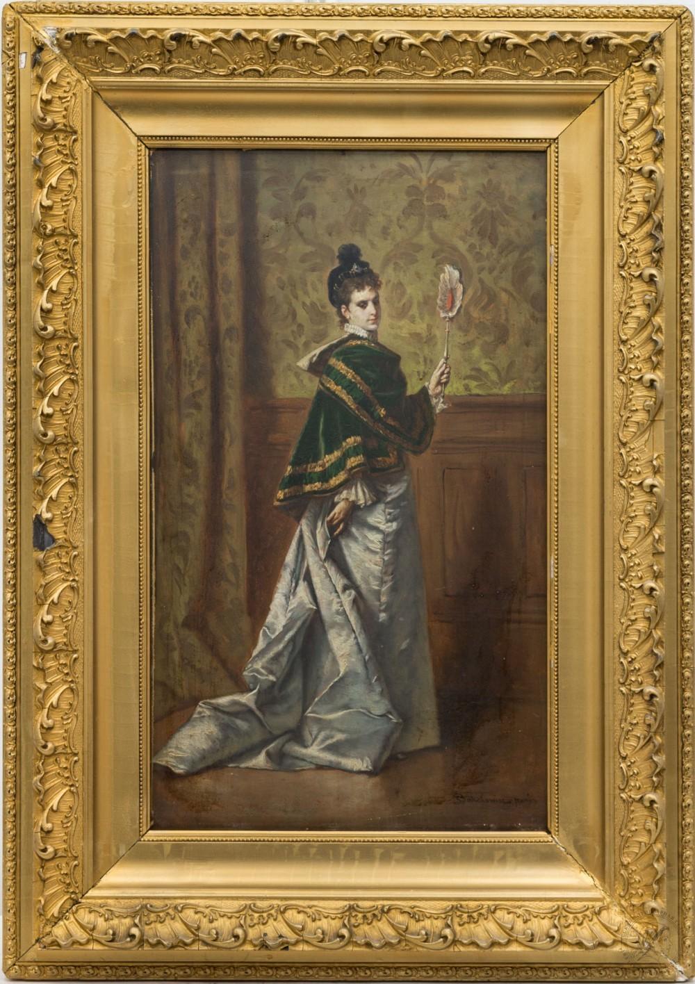 Картина «Дама в Интерьере. Париж»