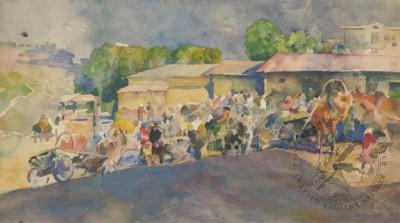 Рисунок «Базар в Васильсурске»