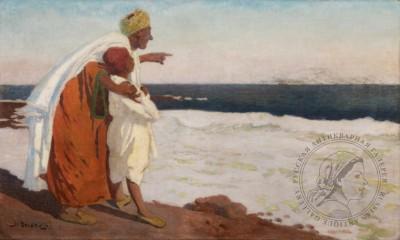 Картина «Корабли на рейде в Марокко»
