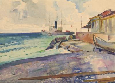 Рисунок «Берег моря. Гагры»