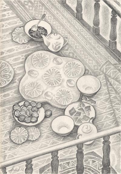 Рисунок «Чай». Из серии «Хуш омадед! (Добро пожаловать)»