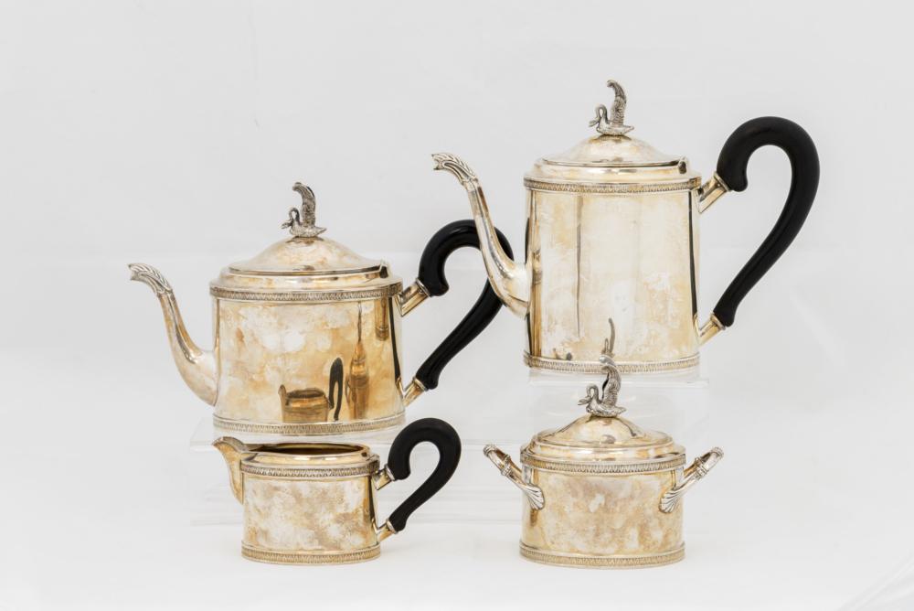Чайно-кофейный сервиз из 4х предметов в стиле классицизм