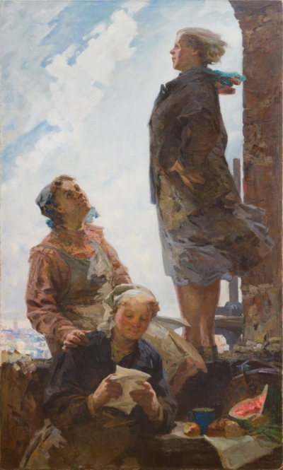 Картина «На стройке»