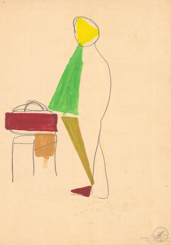 Рисунок «Человек с транзистором»