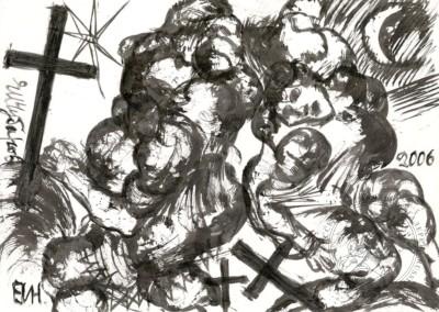 Композиция с крестом