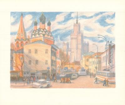Литография «Москва. Таганка.»