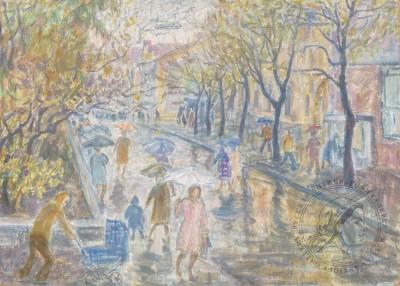 Картина «Золотая осень. Столешников переулок»