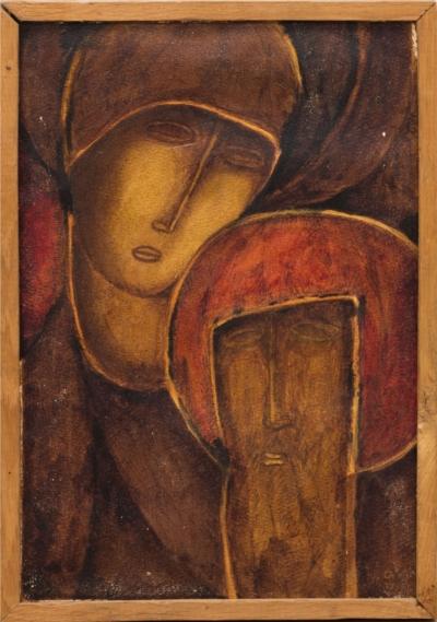 Картина«Девушка и старец»