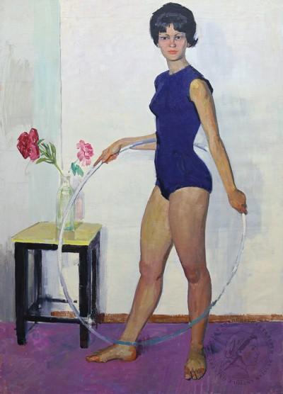 Картина «Девушка с обручем»