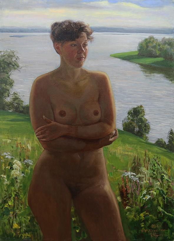 Картина «Девушка у озера»