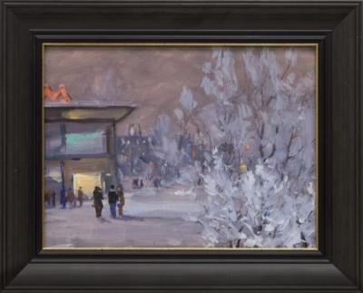 Рисунок « Зимой у метро»
