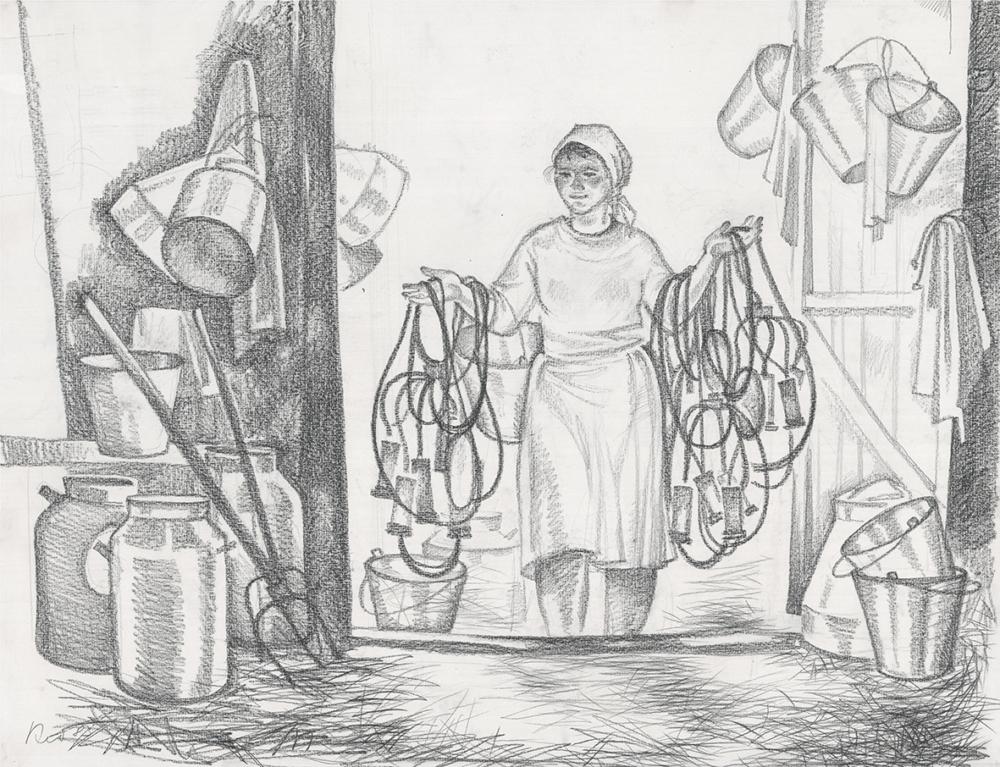 Рисунок «Доярка