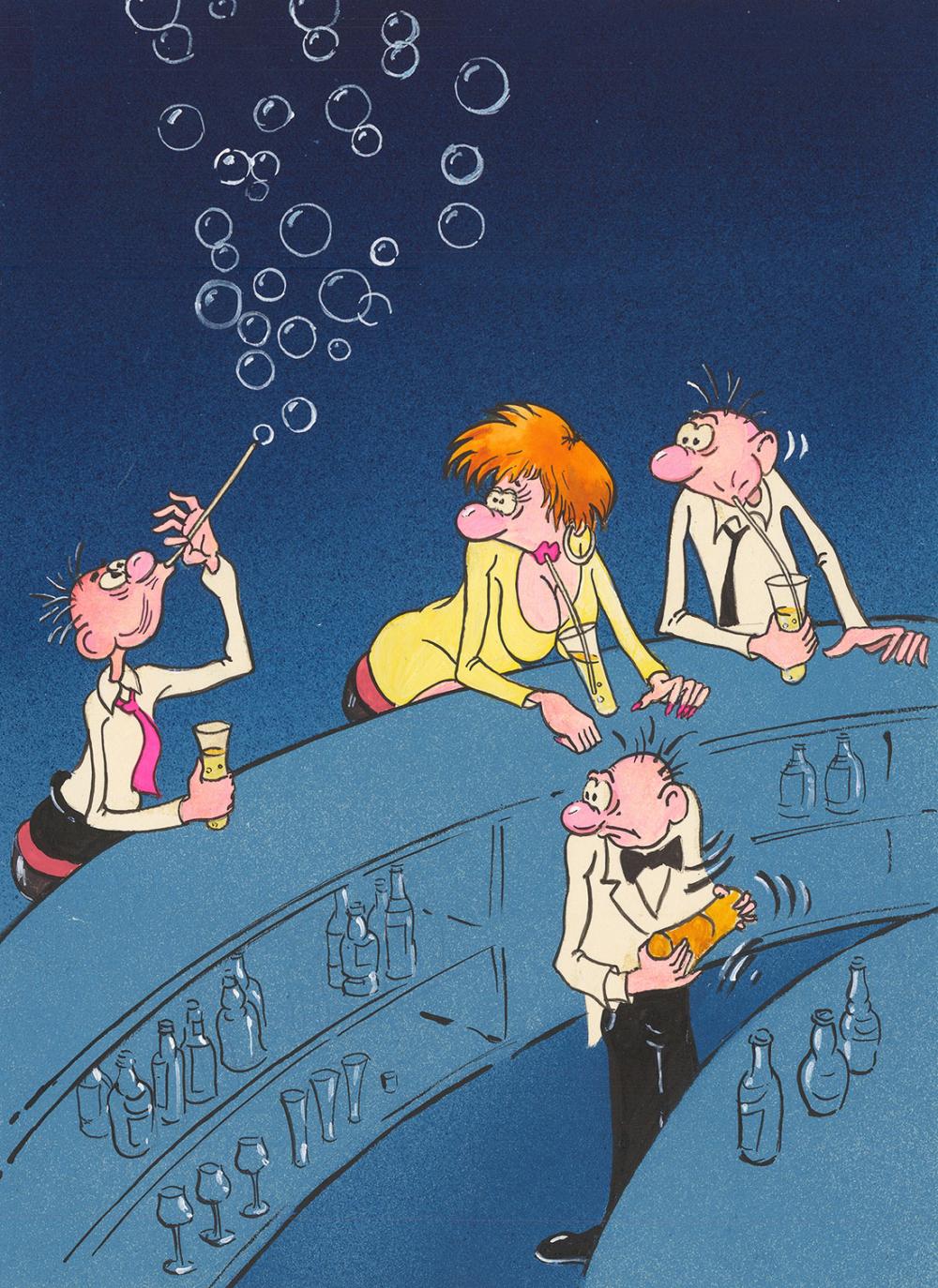 Карикатура «В баре»