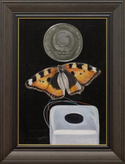 Картина «Бабочка и монета»