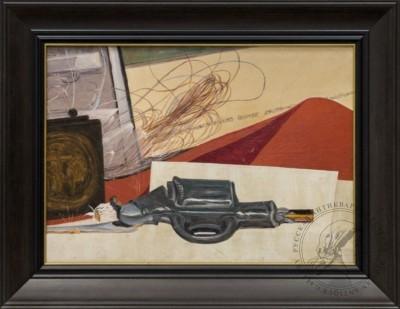 Картина «Натюрморт с игрушечным пистолетом»