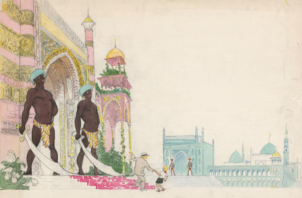 Рисунок «Дворцы для Вольки»