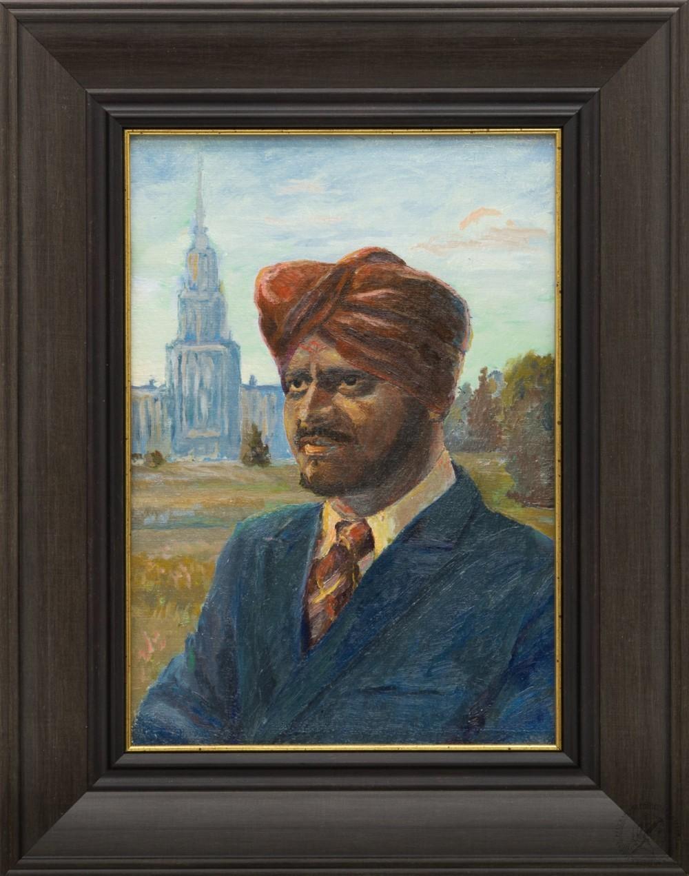 Картина «Портрет на фоне МГУ»