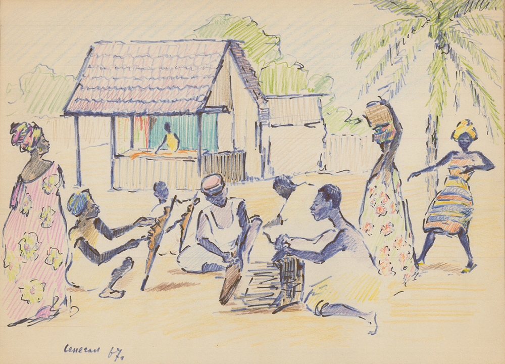 Рисунок «Сенегал. Мастера»