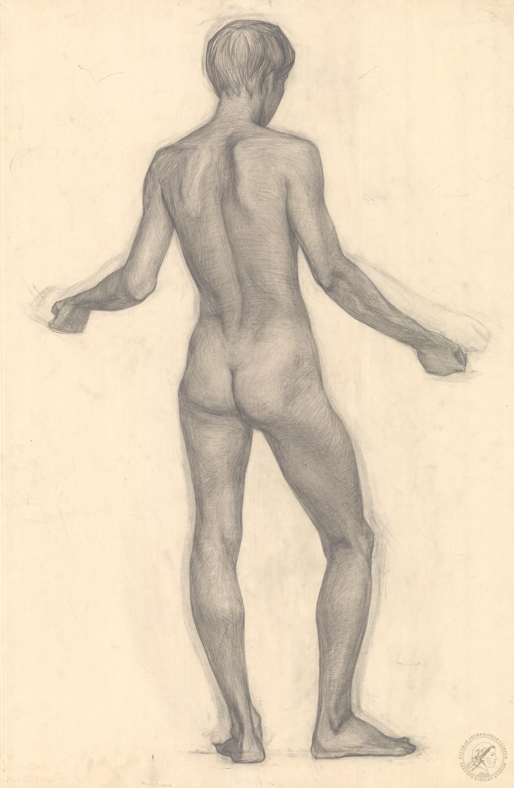 Рисунок «Эскиз мужской фигуры»
