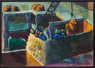 Рисунок «Разгрузка железной руды»