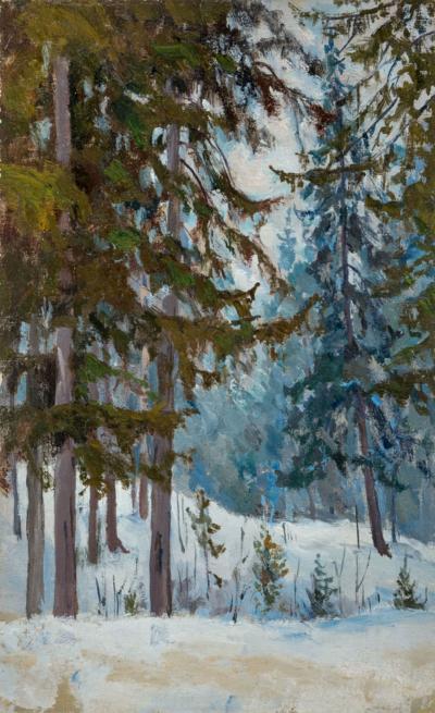 Этюд В зимнем лесу Морозов