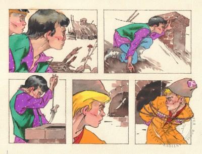Рисунок «Побег». Иллюстрация к книге «Неуловимые мстители в тылу врага»