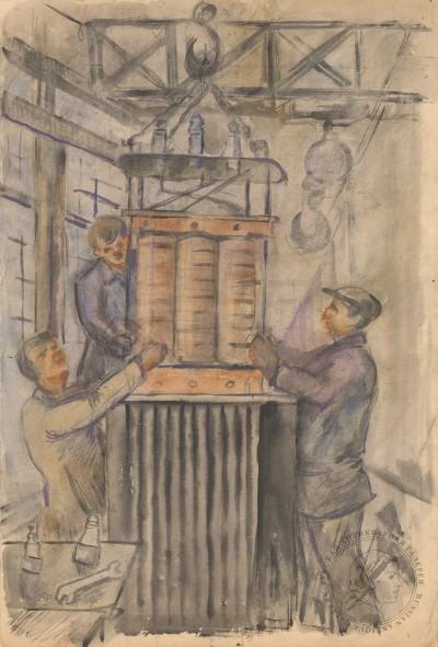Филимонов Рабочие на заводе