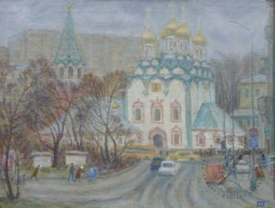 Картина «Фрунзенская. Храм Святителя Николая в Хамовниках»