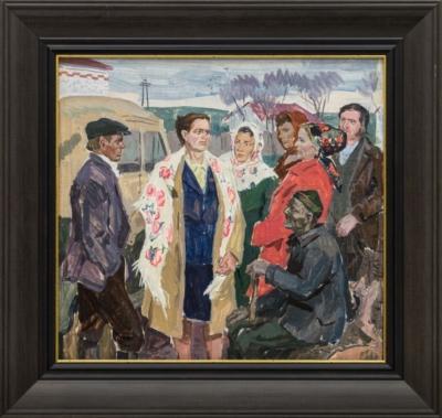Картина «В деревне»