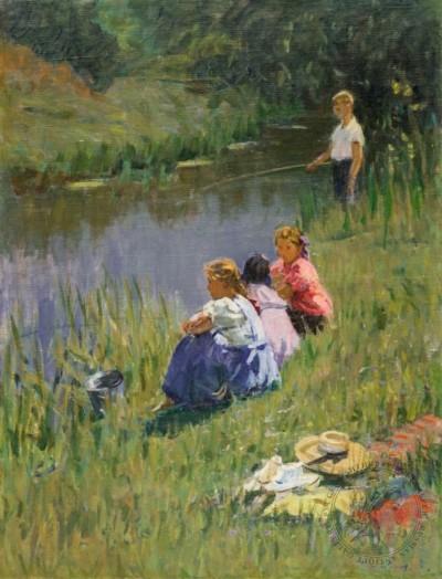 Картина «На рыбалке»