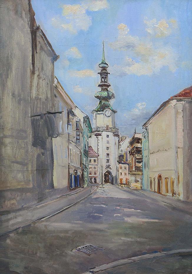 Картина «Братислава. Михальские ворота»