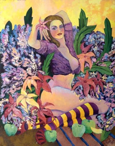 Картина «Девушка с зелеными яблоками»