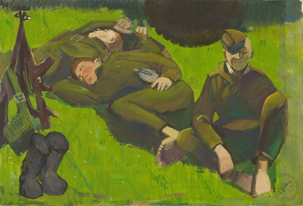 Картина «Солдаты на привале»