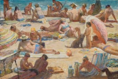 Рисунок «На пляже чёрного моря»