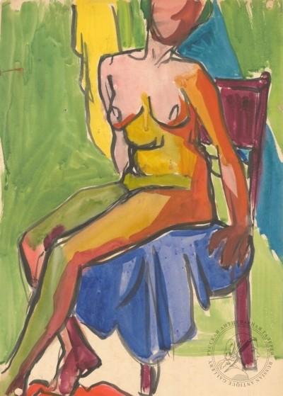 Рисунок «Сидящая натурщица»