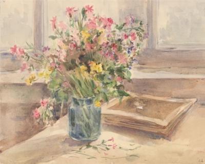 Акварель «Полевые цветы»