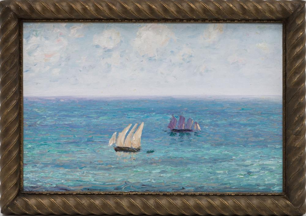 Картина «Морской этюд с кораблями»