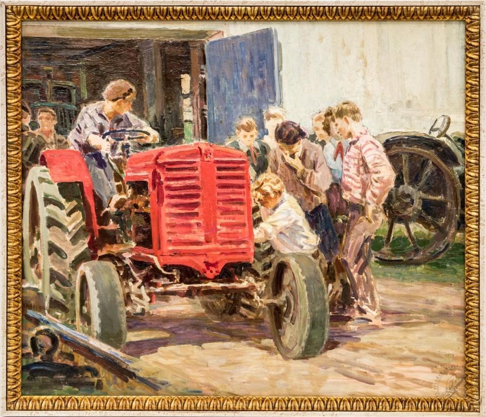 Картина «Ремонт трактора»