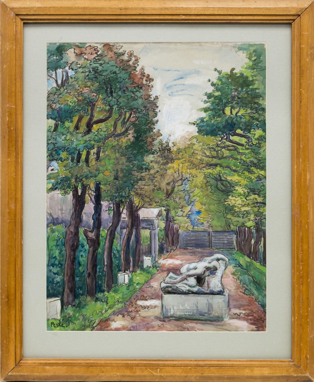 Картина «Сад Музея Родена»