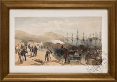 Литография «Железная дорога в Балаклаве»