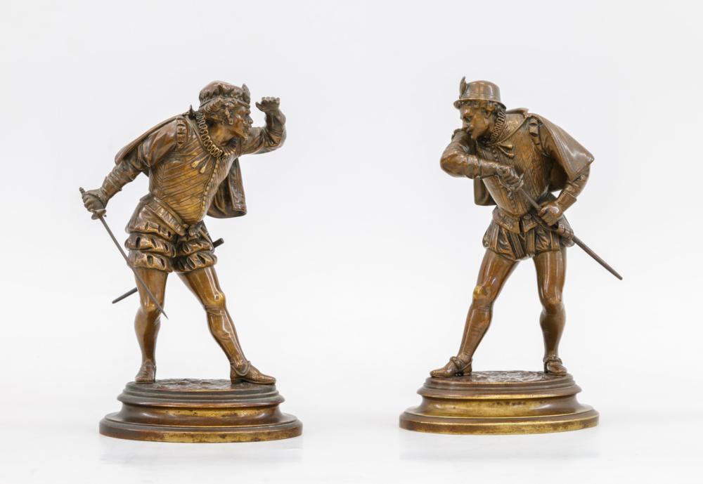 Парные скульптурные композиции «Фехтовальщики»