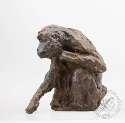 Обезьяна скульптор Голубкина