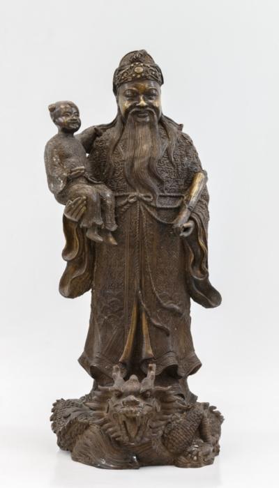 Скульптура бога процветания Лу Сина