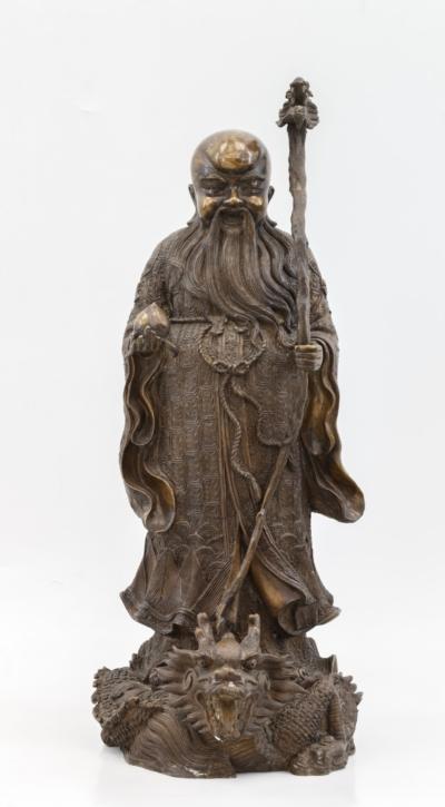 Скульптура бога долголетия Шоу Сина