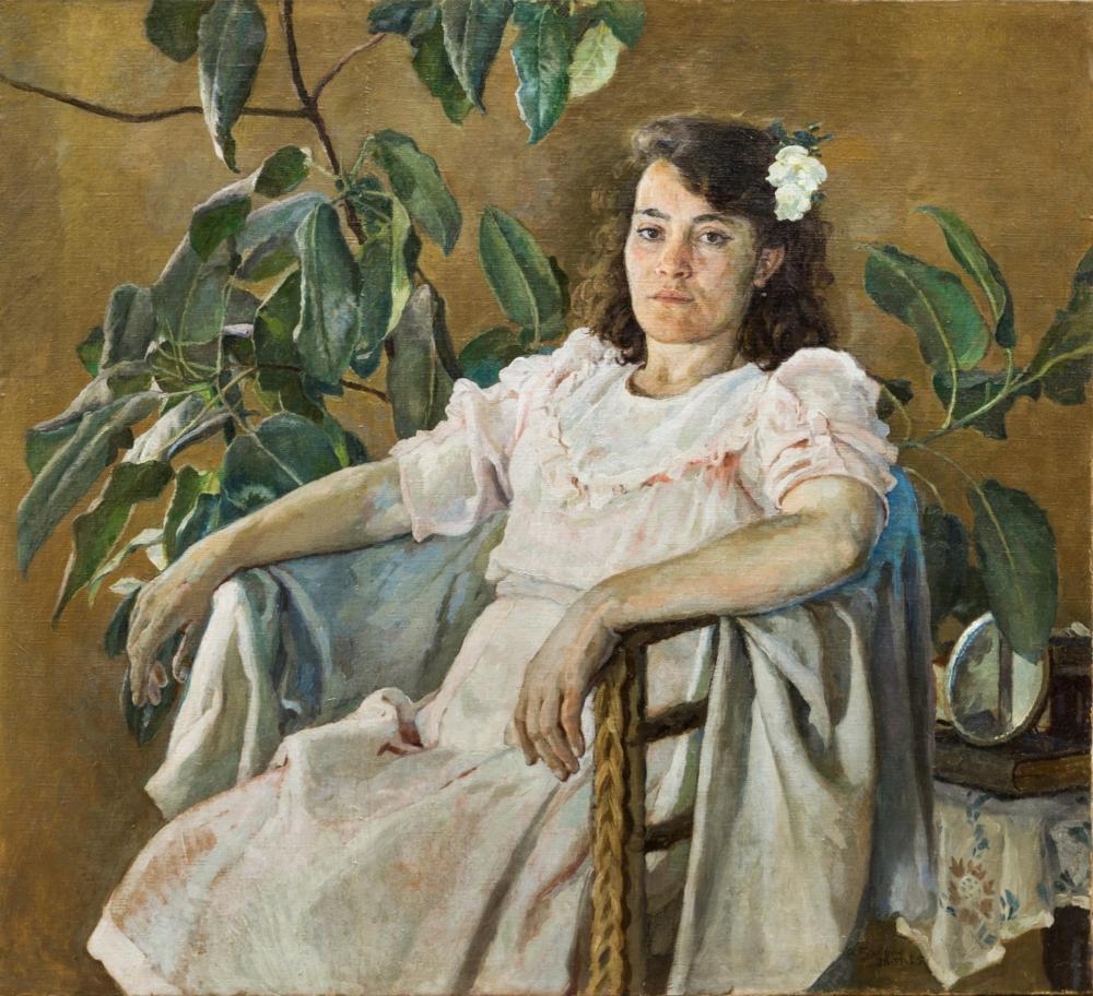 Картина «Девушка в розовом платье»