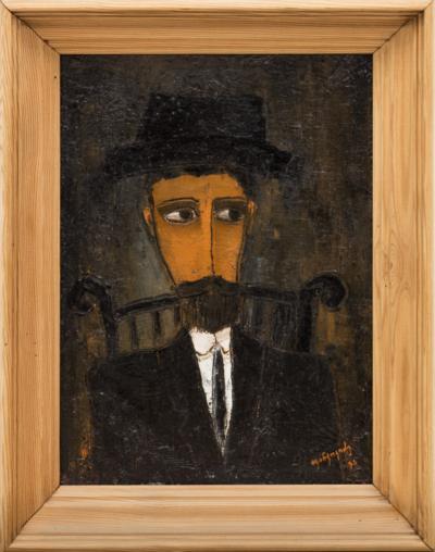 Портрет мужчины в черной шляпе