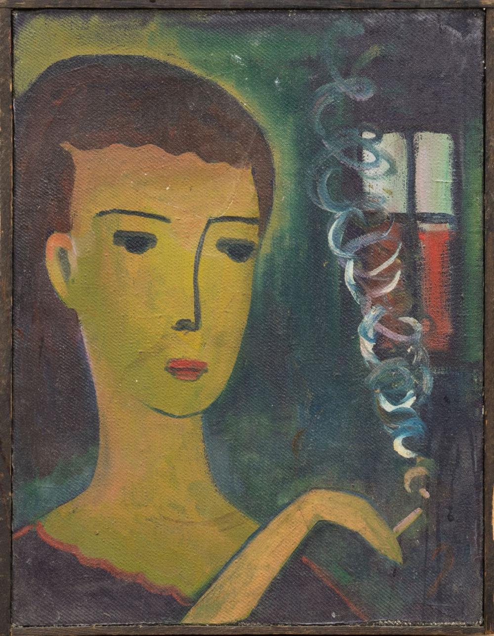 Картина «Дама с сигаретой»