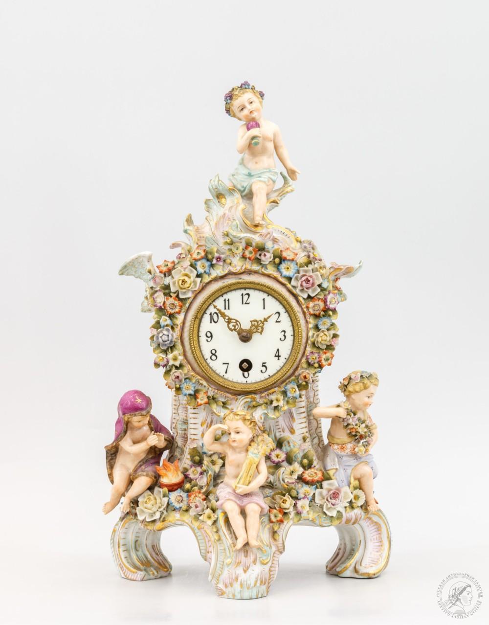 Фарфоровые часы «Времена года»