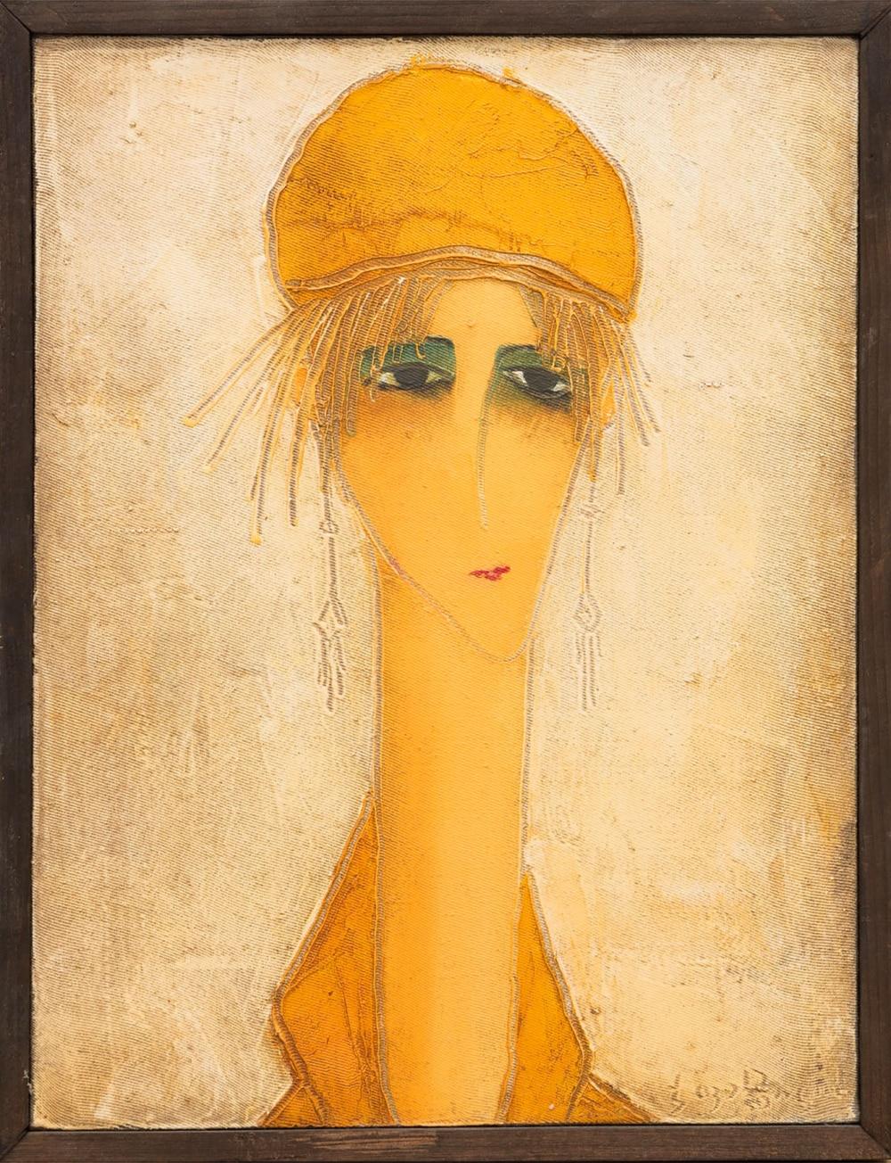 Картина «Девушка в оранжевом»